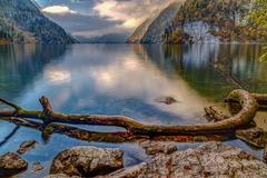 jeseň na jazere