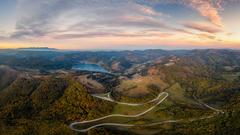 večerný pohľad na kus Slovenska