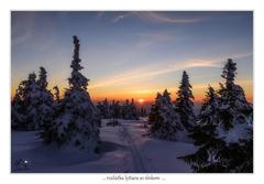 Rozlúčka lyžiara so slnkom