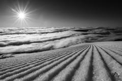 ráno nad oblakmi