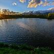 večer pri rybníku