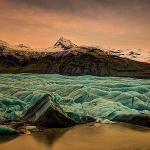 podvečer pri ľadovci