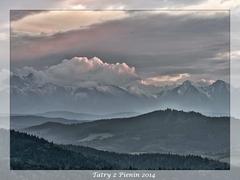 podvečeré Tatry z Pienin