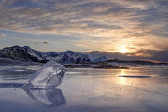 ľad na pláži