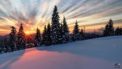 veľkonočný západ slnka