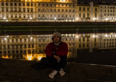 odraz v rieke Arno