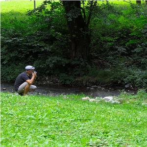Pri potoku - fotenie