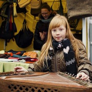 Little musician in the Vilnius