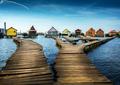 Plávajúce domčeky