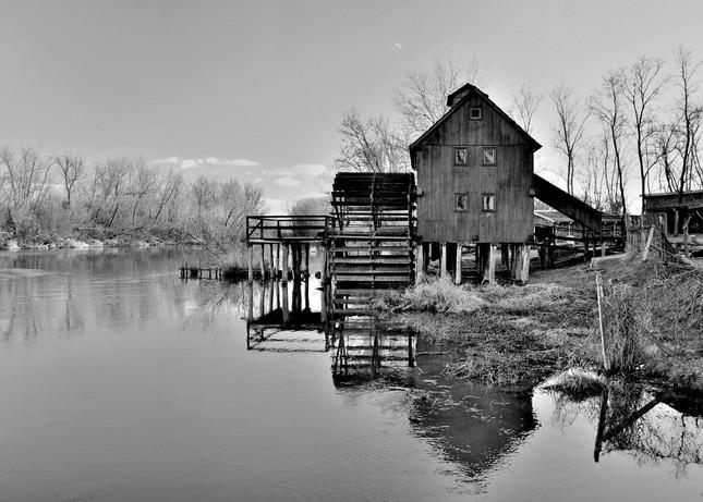 Vodný mlyn čb