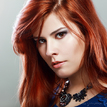young woman red hair