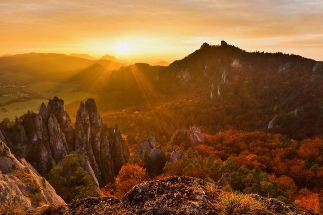 Jeseň v Súľovských skalách