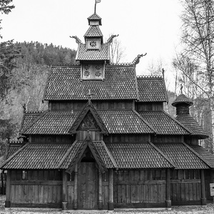 Drevený kostol v Savjord