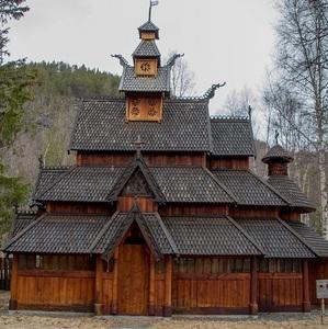 Drevený kostol v Savjord 2