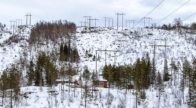 Vysokonapäťová horská chata.