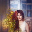 Thajske dievca s kvetmi