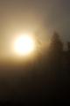 vychod slnka v hmle