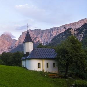 St. Antonius Kapelle zapad slnka
