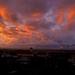 dnesny zapad slnka nad dedinou