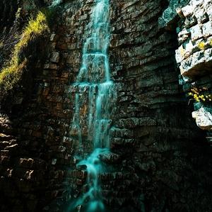 ..vodopád z červenej skaly ....
