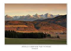 Ránko v dedinke pod Tatrami