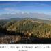 Lúky, kopce, doliny, stromy, hor