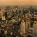 Zapad slnka nad Bangkokom