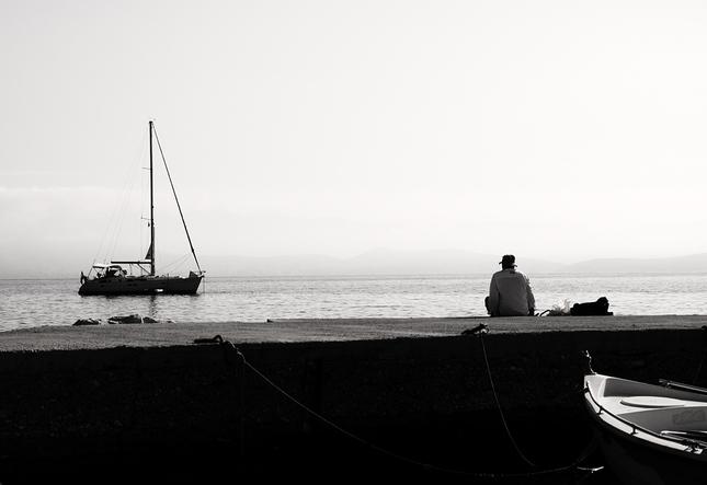 Muž a more