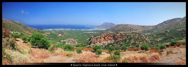 Cesta na pláž Elafonissi