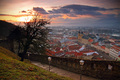 Sunset over Trencin