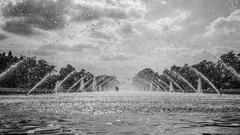 Osvieženie pod fontánou