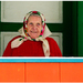 Babička na svojej oranžovej vera