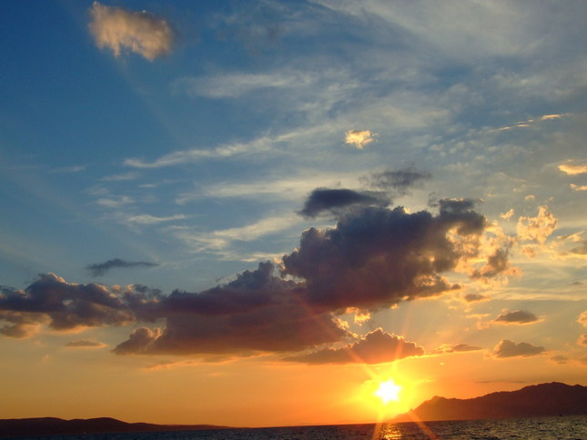 Západ na Makarskej