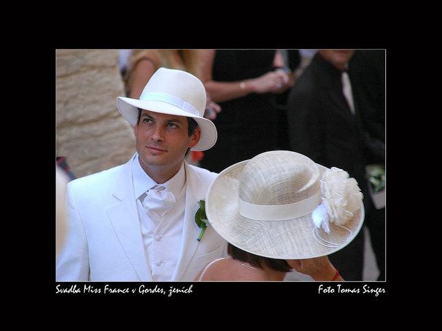 Svadba Mis France - ženích