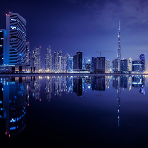 Dubai 2 Business Bay Reflection