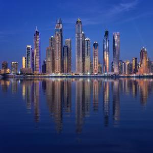 Dubai 6 Marina blue