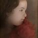 Dievčatko s červenou mašľou