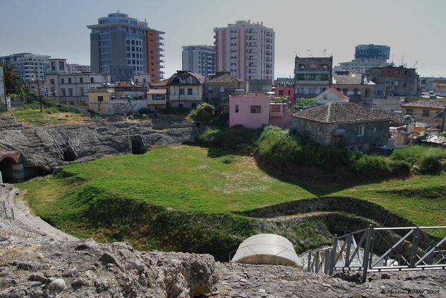Durrës, rímsky amfiteater