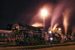 Steam Train In The Night