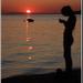 Západ slnka a SMS