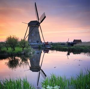 Súmrak a veterný mlyn