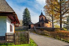 Krajné Čierno - drevený kostol