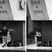 Objatie pod pamätníkom