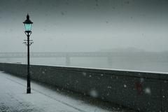 Zima na  nábreží