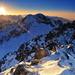 Zapad slnka na Tatrami