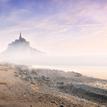 Le Mont Saint Michel za svitania