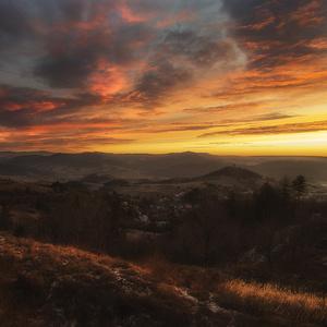 Východ slnka nad Štiavnicou...
