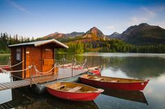 Lodky v Tatrach