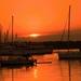 Východ slnka v prístave