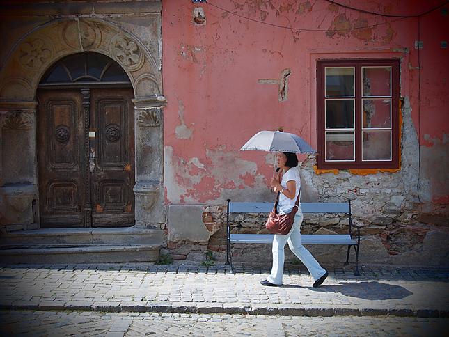 Slnečný dáždnik.